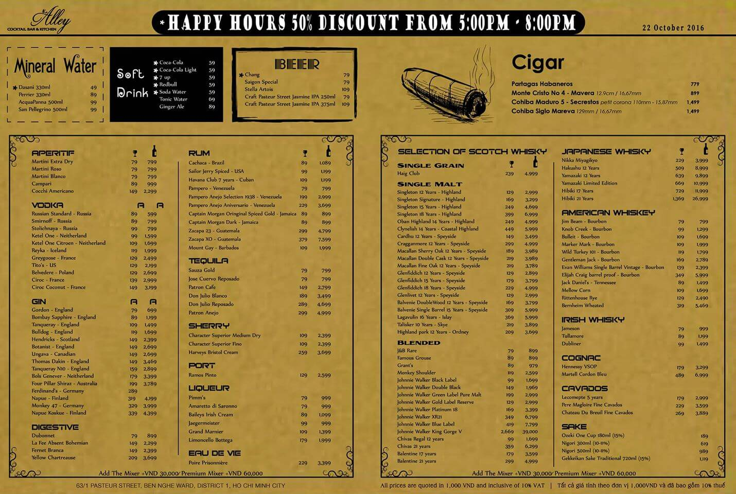 District Kitchen And Bar Menu